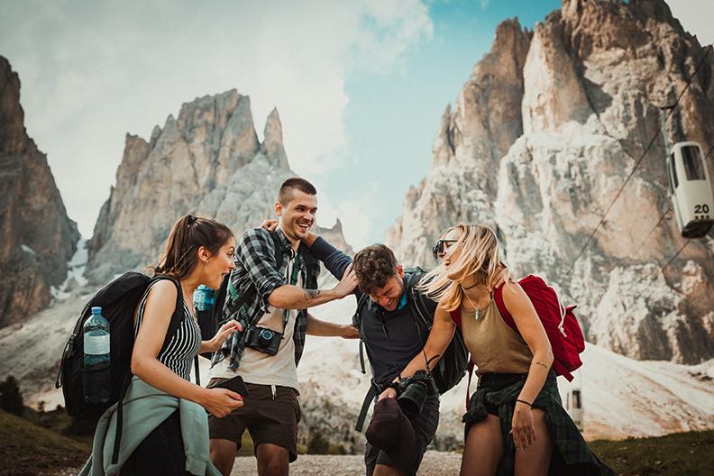 Friends on a Hike
