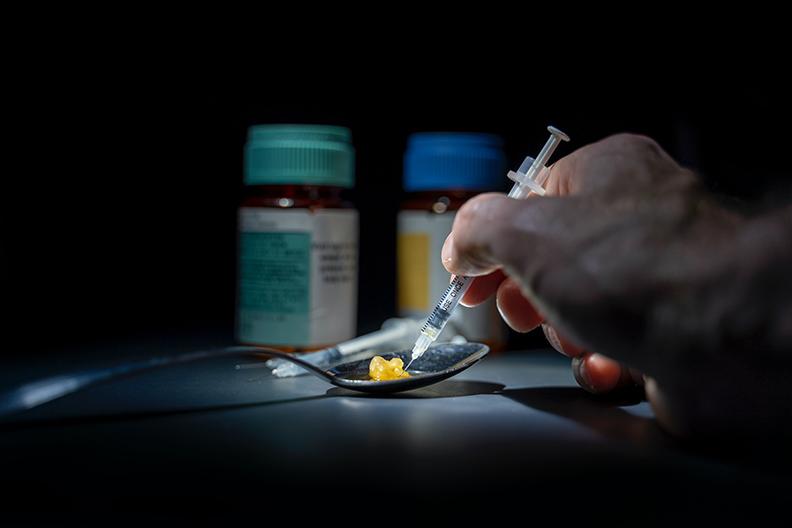Syringe and Drugs